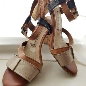 Vintage Tamaris Cork Heel Sandals